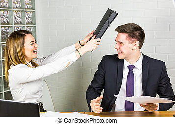 fighting in the office
