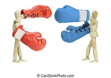 Fighting politicians - Fighting wooden Mannequins...