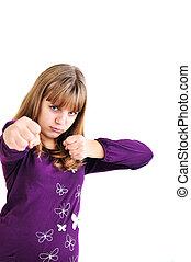 fighting teen girl