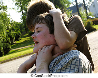 Fighting - Two boys fighting