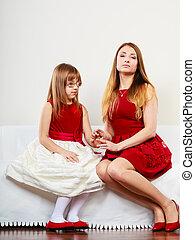 figlia, proposta, insieme, madre