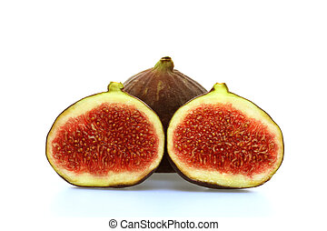 Figs - Black figs on a white background