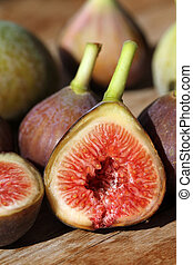 Figs - Little fresh vine figs in perfect maturity