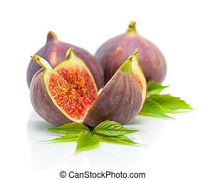 figs on a white background close-up