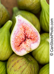 Figs on a wooden platter