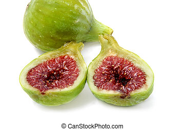 figs - some figs isolated on a white background