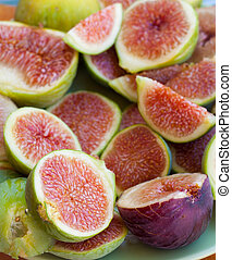 Figs  - Raw fresh and tasty fig fruits from south of italy
