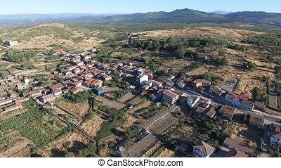 Figueruela de Arriba aerial view, Zamora - Aerial view of...
