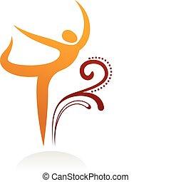figur, 3, dansende, -