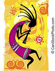 figur, dansende