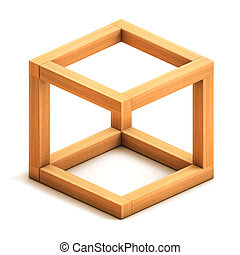 figur, geometriskt, omöjlig