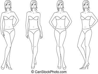 figur, kvinde