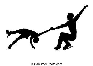 figur, par, skøjteløb