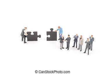 figur, puzzel, stichsaege, auf, stücke, besitz