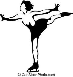 figur, skating.
