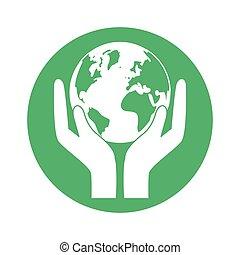 figur, värld, natur, conservancy, ikon