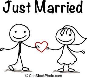 figura bastone, matrimonio