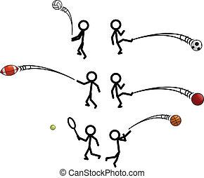 figura bastone, sport