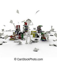 figura, em, caos, de, documentos