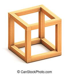 figura, geométrico, imposible