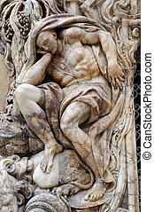 figura humana, mármol