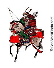 figura, samurai