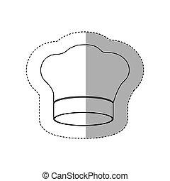 figura, vrchní kuchař povolání, ikona