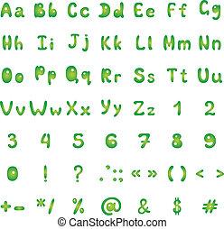 figuras, alfabeto, señales