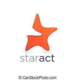 Figurative star emblem design