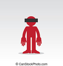 Figure Anonymous - Silhouette anonymous figure with censored...
