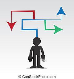 Figure Arrows Maze