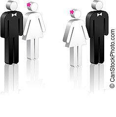 figure bâton, couples