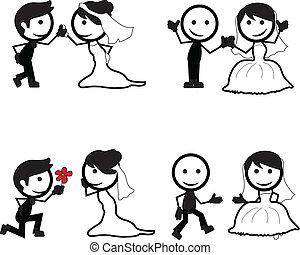 figure bâton, mariage