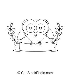 figure bird shaped heart icon