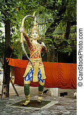 figure, bouddhiste, cambodge, penh, temple, phnom