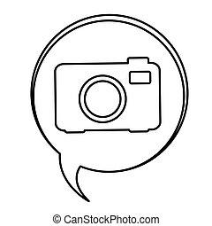 figure bubbles with camera symbol icon