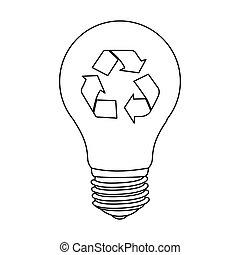 figure bulb eco icon