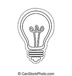 figure bulb icon image