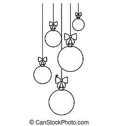 figure christmas balls hanging icon