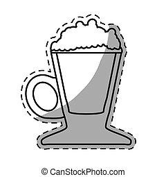 Figure coffee cream glass icon