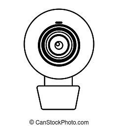 figure computer camera icon