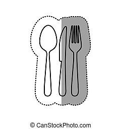figure cutlery tools icon