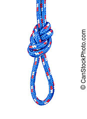 Figure eight knot - A double rope figure eight knot, also ...