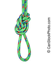 Figure eight knot on white - A double rope figure eight knot...