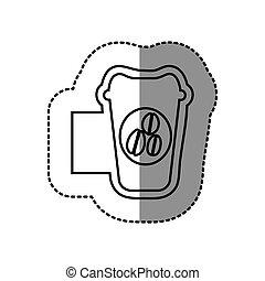 figure emblem coffee espresso icon