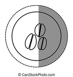 figure emblem grains coffee icon