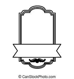 figure emblem square with ribbon icon