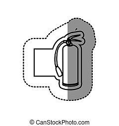 figure emblem sticker extinguisher icon