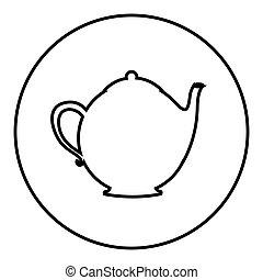 figure emblem teapot icon