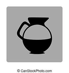 figure emblem water pitcher icon